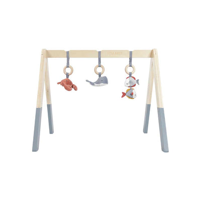 Little Dutch Wooden Baby Gym - Ocean Blue-Baby Gyms- Natural Baby Shower