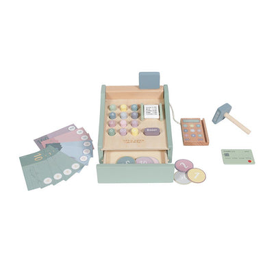 Little Dutch Wooden Toy Cash Register-Play Sets- Natural Baby Shower