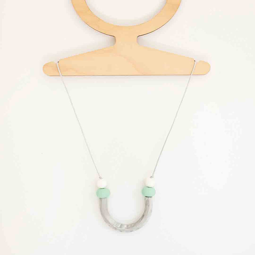 Little Magpies Lunar Teething & Nursing Necklace Grey Marble