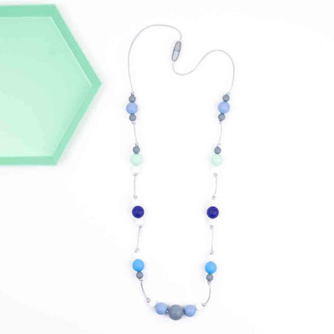 Little Magpies Ophelia Teething & Nursing Necklace - Blue