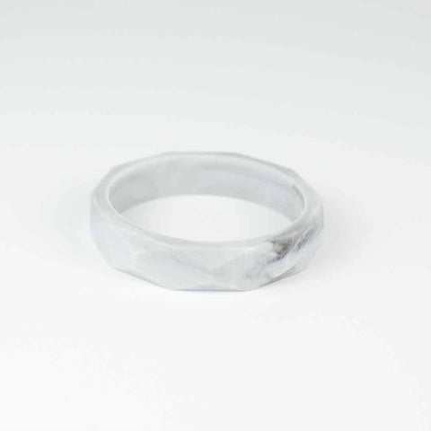 Little Magpies Silicone Teething Bangle - Marbled Grey