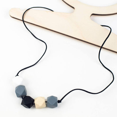 Little Magpies Jesse Teething & Nursing Necklace (LM39) - Monochrome