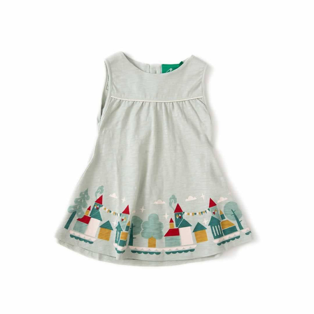 Little Green Radicals - House On The Hill Story Time Sundress in Pale Aqua