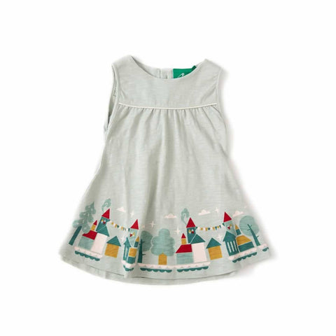Little Green Radicals - House On The Hill Story Time Sundress - Pale Aqua - Dresses - Natural Baby Shower