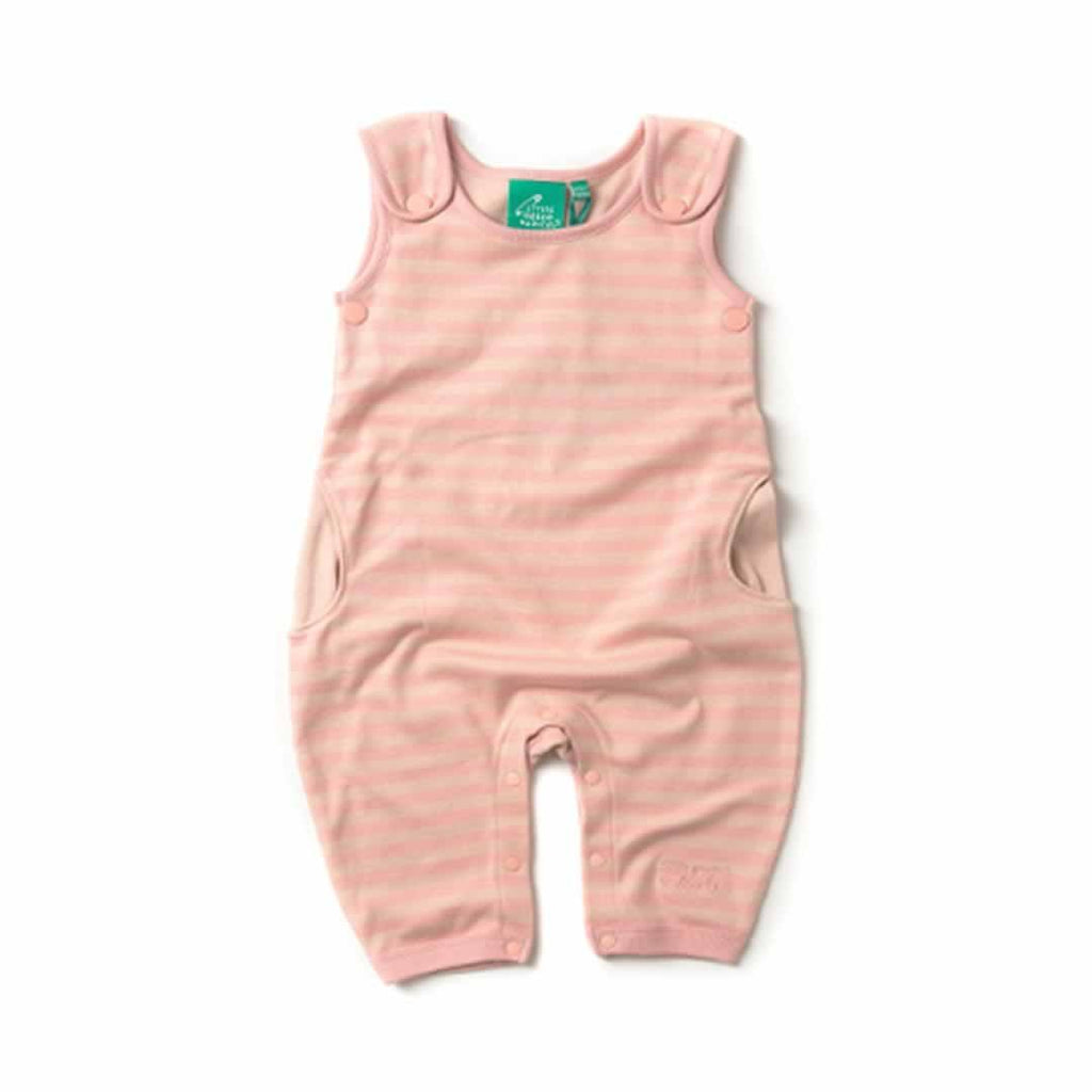 Little Green Radicals Dungarees - Cloud Pink Stripes - Dungarees - Natural Baby Shower