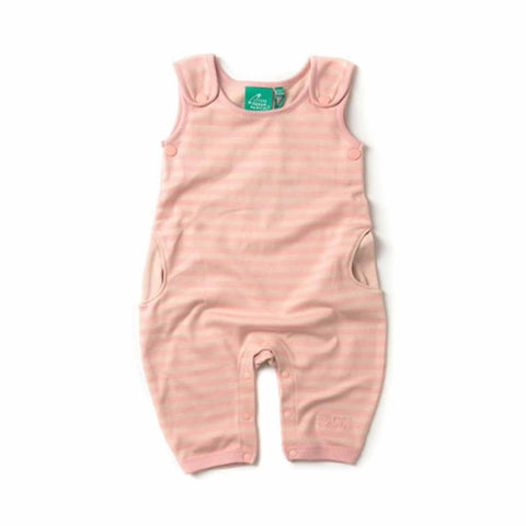 Little Green Radicals Dungarees Cloud Pink Stripes