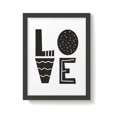 Snuz Love Nursery Print - Monochrome-Nursery Accessories- Natural Baby Shower