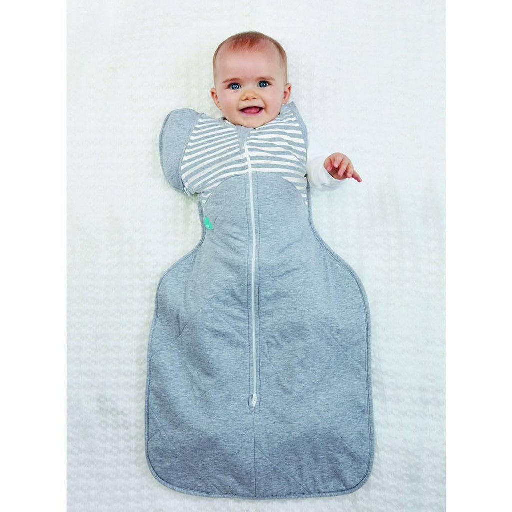 Love to Dream Swaddle UP Warm 50/50 - Grey Stripe Lifestyle