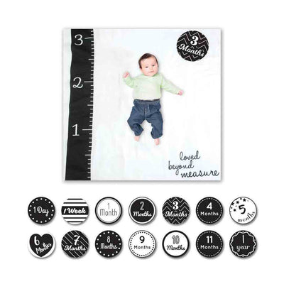 Lulujo Milestone Sets - Love Beyond Measure-Gift Sets-One Size-Black/White- Natural Baby Shower