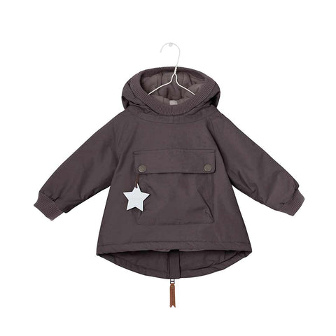 MINI A TURE Baby Wen Jacket - Dark Coffee-Coats & Snowsuits- Natural Baby Shower