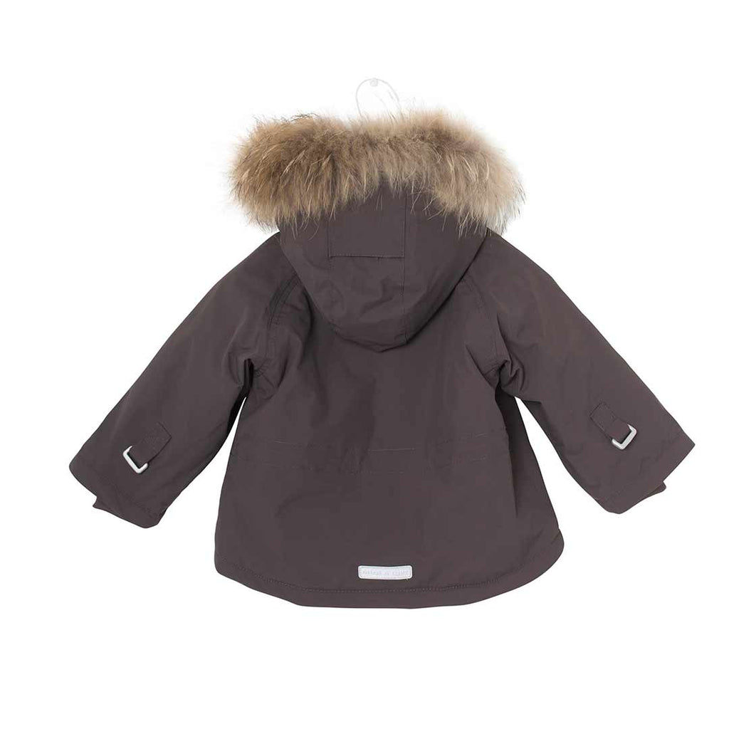 2d9f1163 ... MINI A TURE Wally Fur Jacket - Dark Coffee-Coats & Snowsuits- Natural  Baby