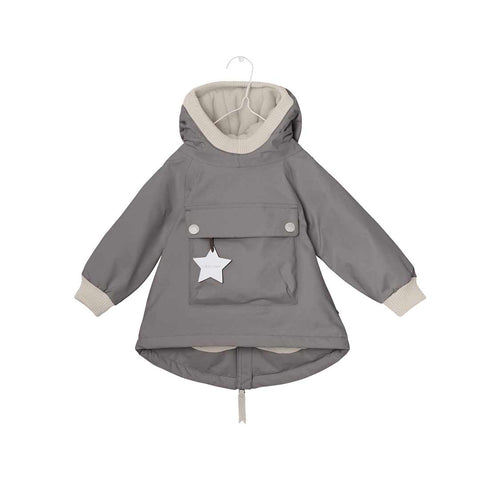 MINI A TURE Baby Wen Jacket - Steel Grey-Coats & Snowsuits- Natural Baby Shower