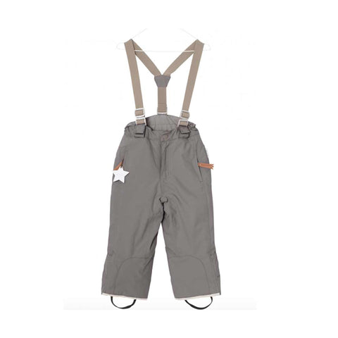 MINI A TURE Witte Ski Bottoms - Steel Grey-Pants- Natural Baby Shower