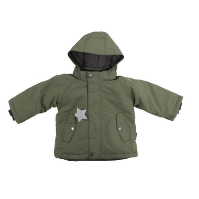 MINI A TURE Wally Jacket - Deep Green-Coats & Snowsuits- Natural Baby Shower