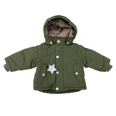MINI A TURE Wally Jacket - Olive Night-Coats & Snowsuits-9m-Olive Night- Natural Baby Shower