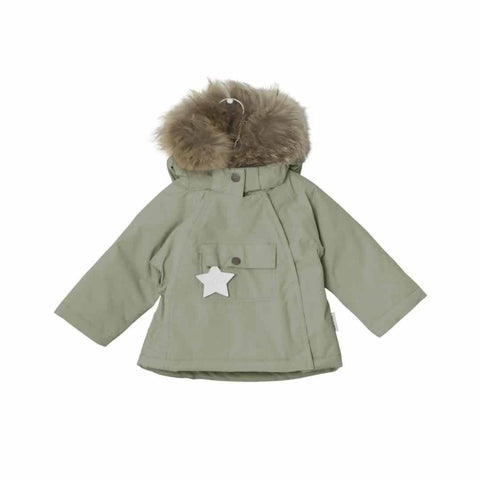 MINI A TURE - Wang Fur Jacket in Deep Green