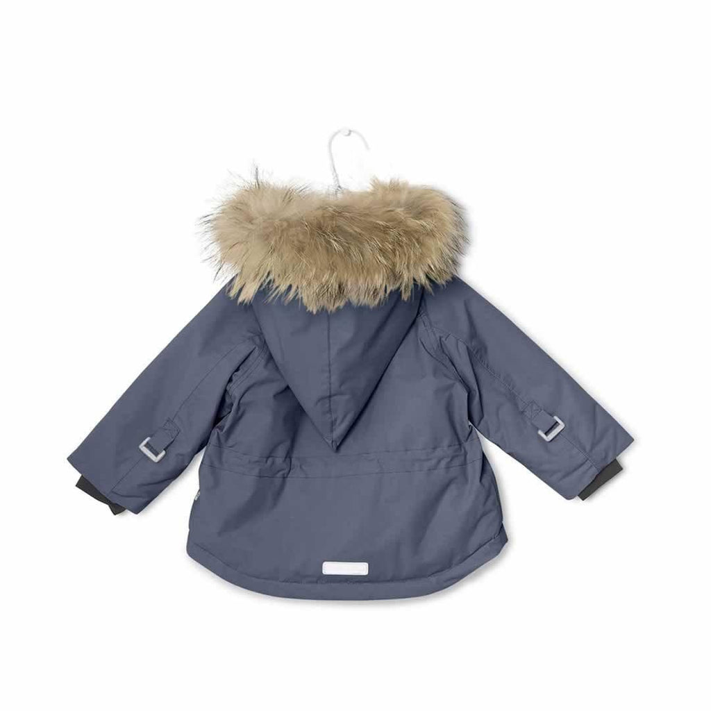 MINI A TURE - Wang Fur Jacket Ombre Blue