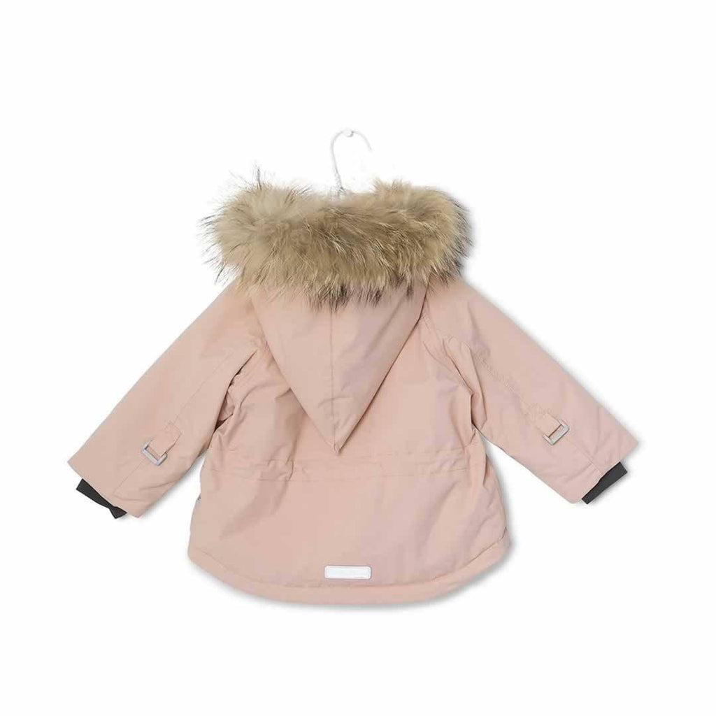 MINI A TURE - Wang Fur Jacket - Rose Smoke - Coats & Snowsuits - Natural Baby Shower