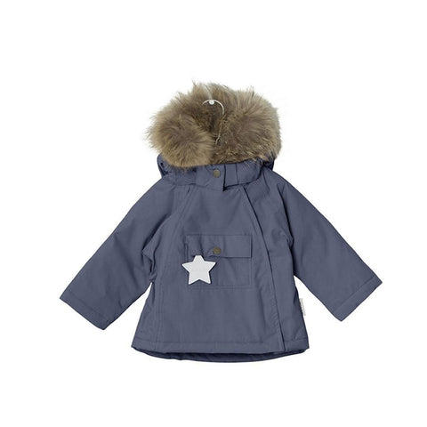 MINI A TURE - Wang Fur Jacket in Ombre Blue