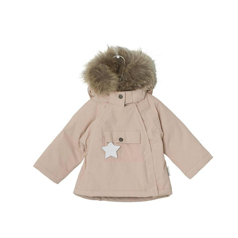 MINI A TURE - Wang Fur Jacket in Rose Smoke