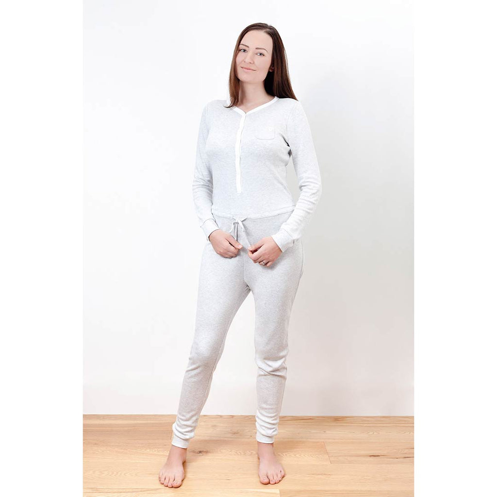 MORI Adult Onesie - Grey-Parent Clothing- Natural Baby Shower