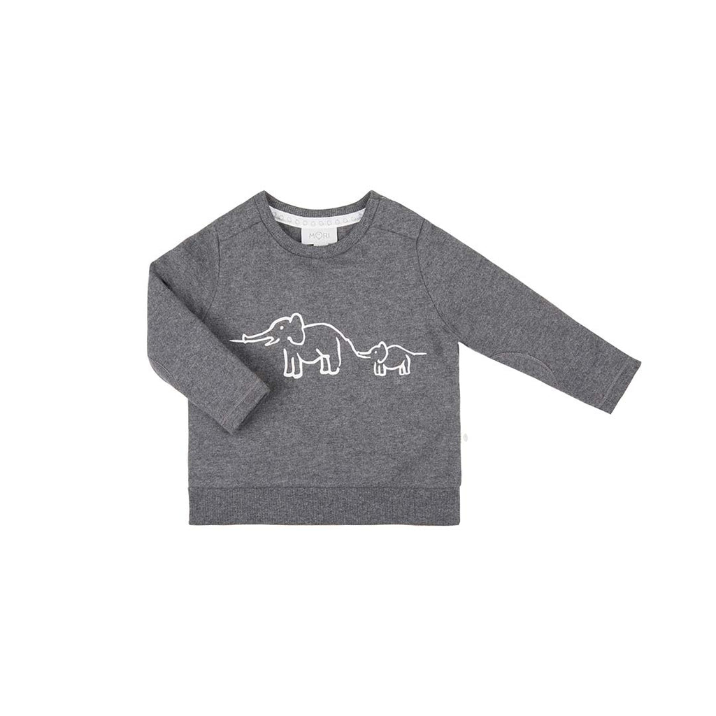 MORI Animal Family Sweater - Lunar-Long Sleeves- Natural Baby Shower