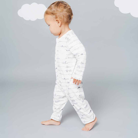 MORI Animal Family Zip-Up Sleepsuit-Sleepsuits- Natural Baby Shower
