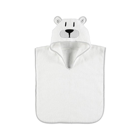 MORI Animal Hooded Poncho Towel - Polar Bear-Towels & Robes-Polar Bear-12-36m- Natural Baby Shower