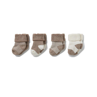 MORI Baby Socks - 4 Pack - Milk & Biscuit-Socks- Natural Baby Shower