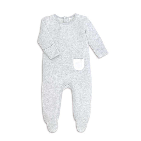 MORI Back Opening Sleepsuit Grey