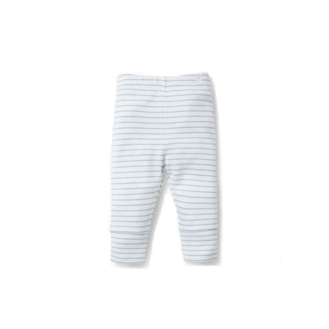 MORI Everyday Leggings - Teal Stripe-Leggings- Natural Baby Shower