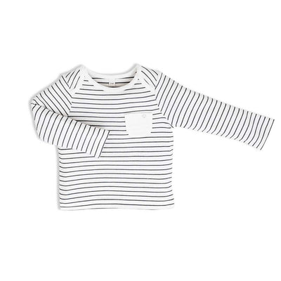 MORI Everyday T-Shirt - Grey Stripe-Long Sleeves- Natural Baby Shower