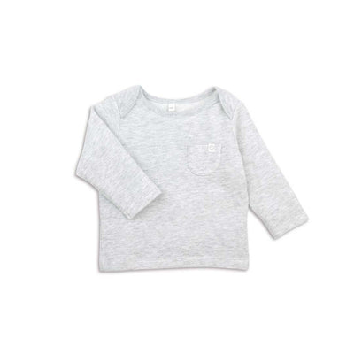 MORI Everyday T-Shirt - Grey-Long Sleeves- Natural Baby Shower
