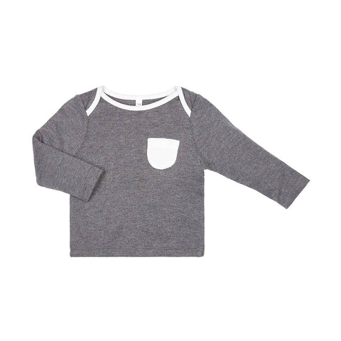 MORI Everyday T-Shirt - Lunar-Long Sleeves- Natural Baby Shower
