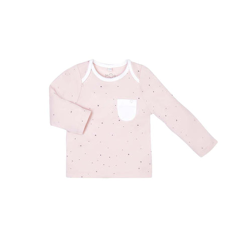 MORI Everyday T-Shirt - Stardust-Long Sleeves- Natural Baby Shower