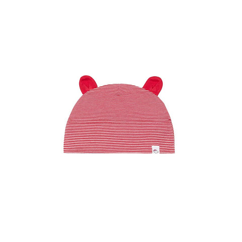 MORI Festive Baby Bear Hat - Red Stripe-Hats- Natural Baby Shower