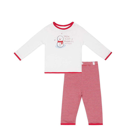 MORI Festive PJ Set - Red Stripe-Pyjamas- Natural Baby Shower