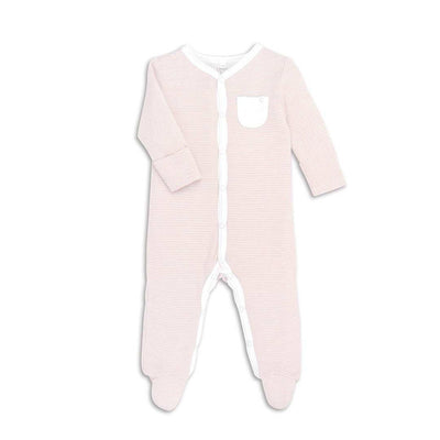 MORI Front Opening Sleepsuit - Blush-Sleepsuits- Natural Baby Shower