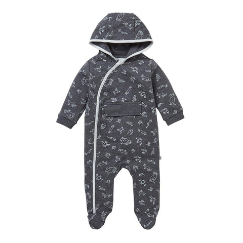 MORI Gruffalo Snugsuit - Stone Grey-Coats & Snowsuits- Natural Baby Shower