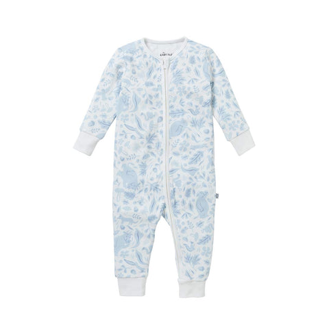 MORI Gruffalo Zip-Up Sleepsuit - Dragonfly Blue-Sleepsuits- Natural Baby Shower