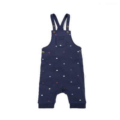 MORI Hearts Dungarees - Mini Hearts-Dungarees- Natural Baby Shower