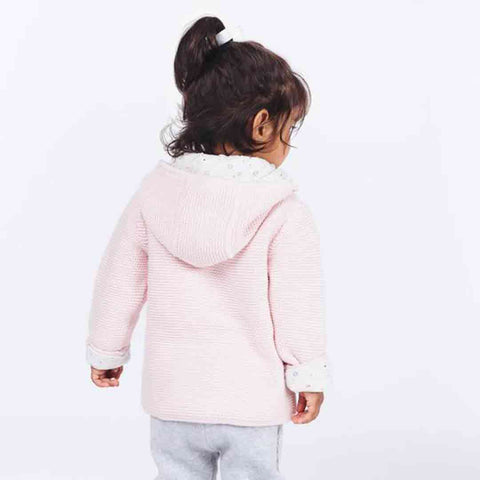 MORI Knitted Coat - Newborn Pink-Coats & Snowsuits- Natural Baby Shower