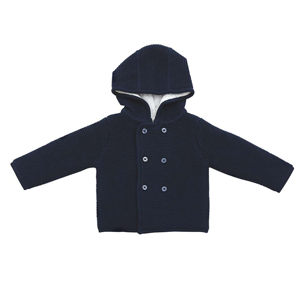 4da26635b484 MORI Knitted Coat in Party Navy – Natural Baby Shower