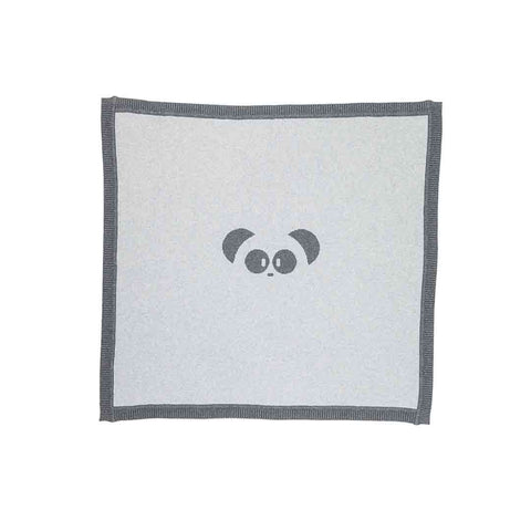 MORI Knitted Panda Blanket - Lamb Grey