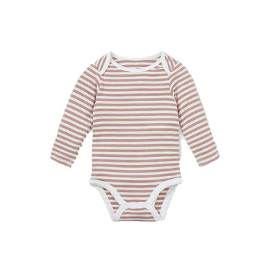 MORI Long Sleeve Bodysuit - Copper-Bodysuits- Natural Baby Shower