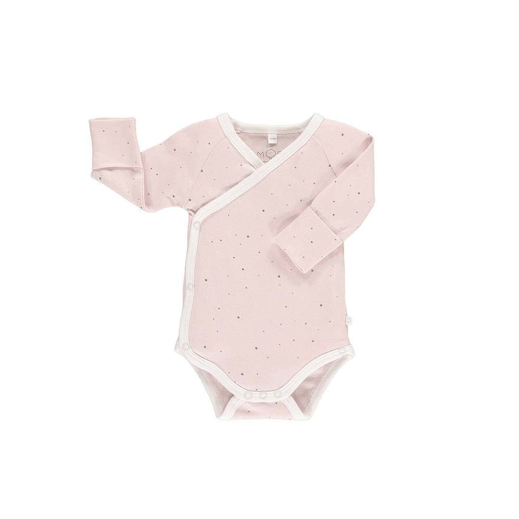MORI Long Sleeve Kimono Bodysuit - Stardust-Bodysuits- Natural Baby Shower