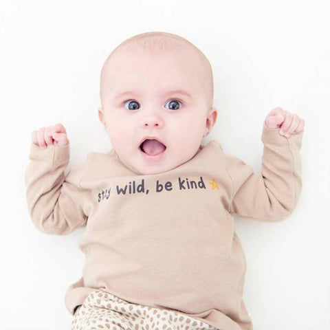 MORI Long Sleeve T-Shirt - Wild Print-Long Sleeves- Natural Baby Shower