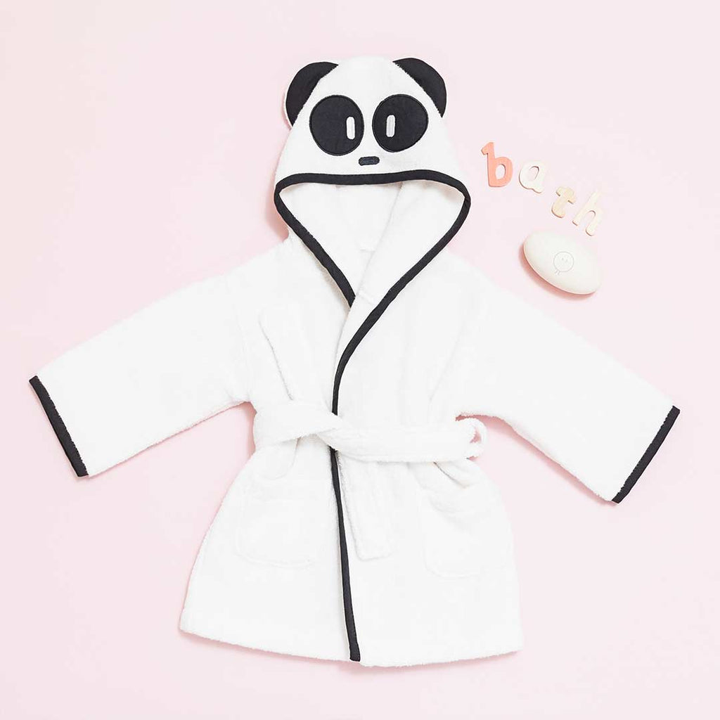 7f595607a0 ... MORI Panda Hooded Baby Bathrobe - White Black-Towels   Robes-12- ...