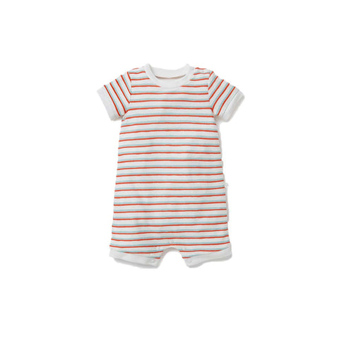 MORI Reef Summer Sleepsuit - Stripes-Sleepsuits- Natural Baby Shower
