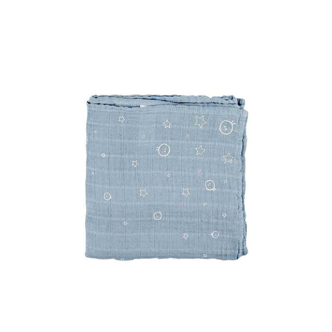 MORI Regular Muslin - Blue-Muslin Squares- Natural Baby Shower